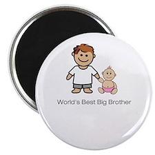 "World's Best Big Brother"" (pink) Magnet"