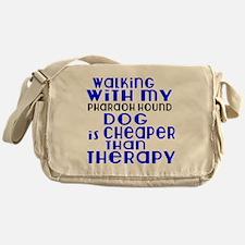 Walking With My Pharaoh Hound Dog Messenger Bag