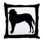 Saint Bernard Silhouette Throw Pillow