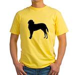 Saint Bernard Silhouette Yellow T-Shirt