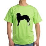 Saint Bernard Silhouette Green T-Shirt