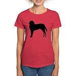 Saint Bernard Silhouette Women's Dark T-Shirt