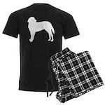 Saint Bernard Silhouette Men's Dark Pajamas