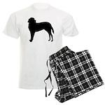 Saint Bernard Silhouette Men's Light Pajamas