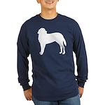 Saint Bernard Silhouette Long Sleeve Dark T-Shirt