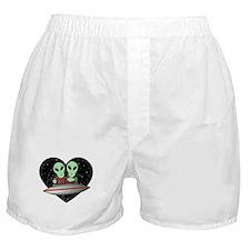Aliens In Love Boxer Shorts