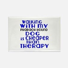 Walking With My Pharaoh Hound Dog Rectangle Magnet