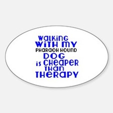 Walking With My Pharaoh Hound Dog Sticker (Oval)