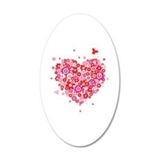 Cute Valentines Day Flowers and Roses 22x14 Oval W