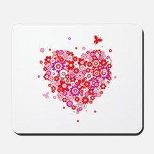 Cute Valentines Day Flowers and Roses Mousepad