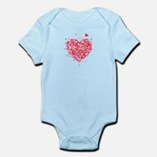Cute Valentines Day Flowers and Roses Infant Bodys