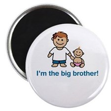 """""""I'm the big brother!"""" (pink) Magnet"""