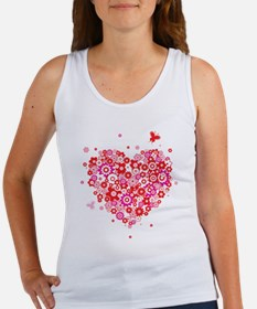 Cute Valentines Day Flowers a Women's Tank Top