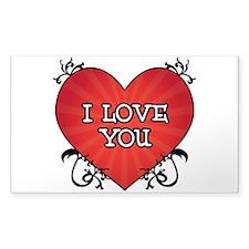 Tattoo Heart I Love You Decal