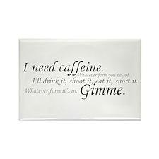 Caffeine Frenzy Rectangle Magnet