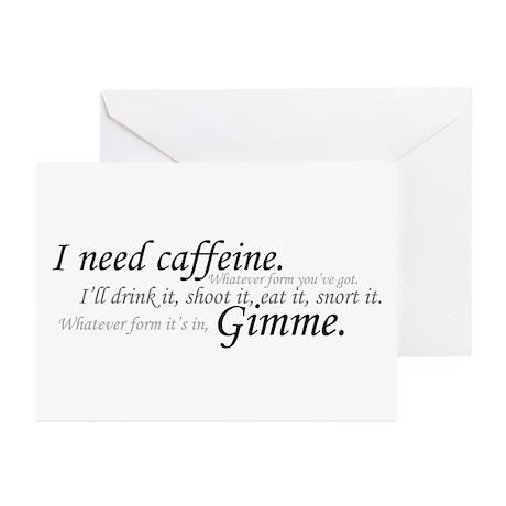 Caffeine Frenzy Greeting Cards (Pk of 10)