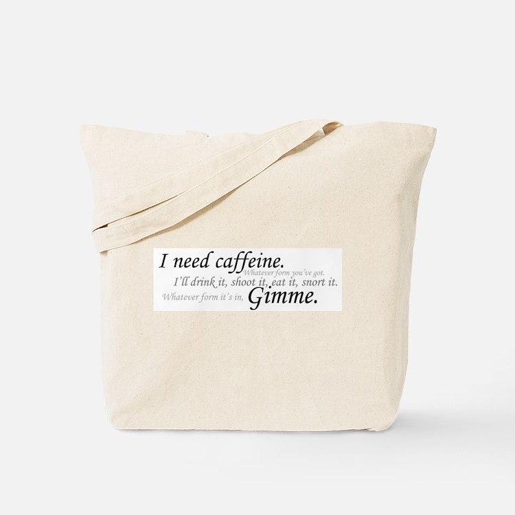 Caffeine Frenzy Tote Bag