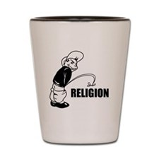 Piss on Religion Shot Glass