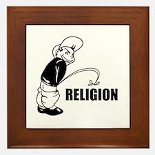 Piss on Religion Framed Tile