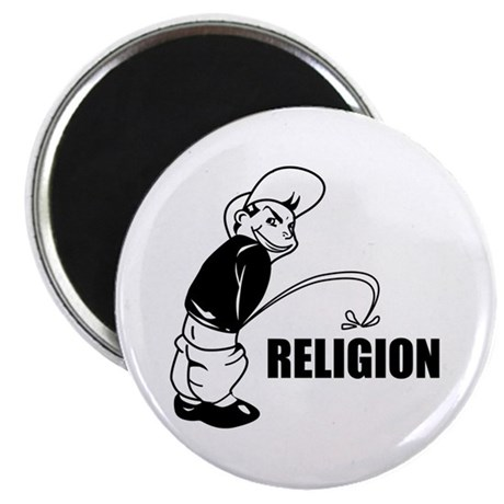 "Piss on Religion 2.25"" Magnet (10 pack)"