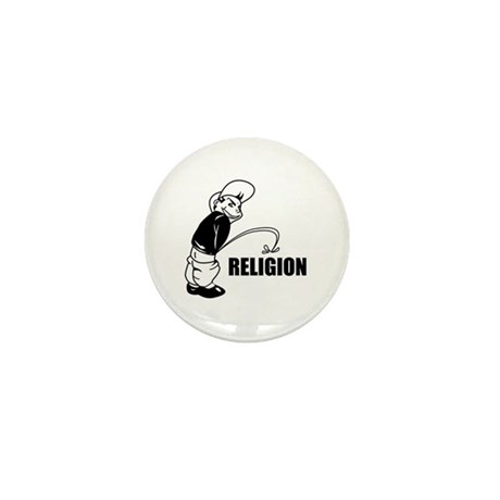Piss on Religion Mini Button (10 pack)