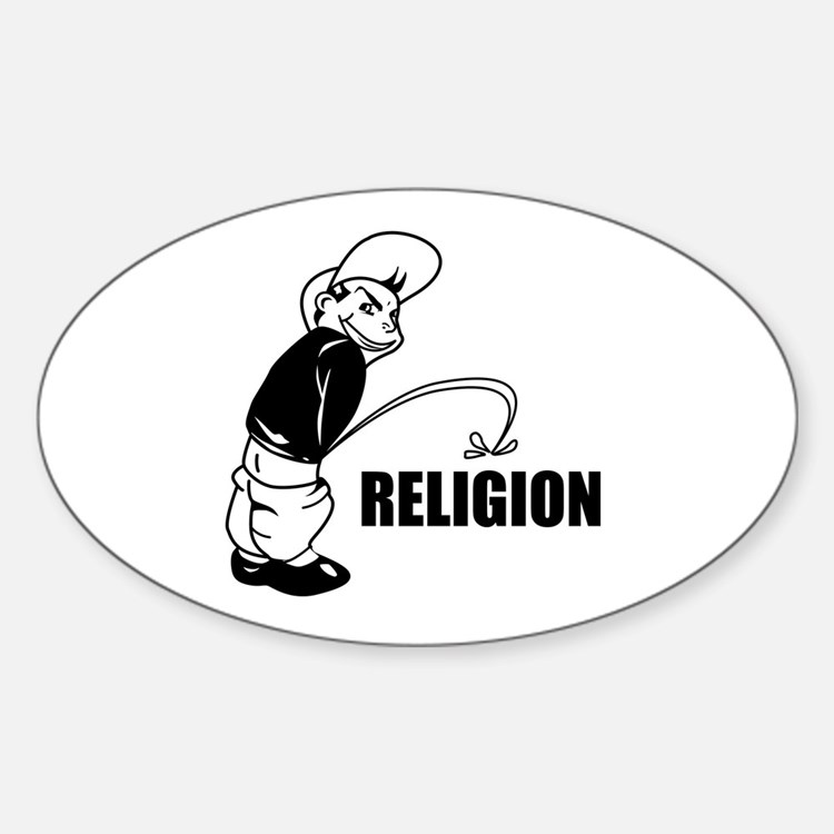 Piss on Religion Decal