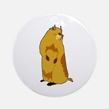 dramatic look gopher Ornament (Round)