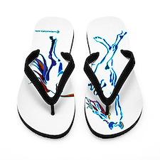 Horse of Many Colors Flip Flops