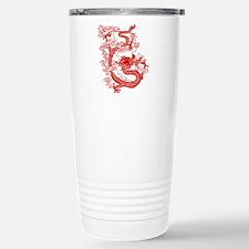 Red Chinese Dragon Stainless Steel Travel Mug