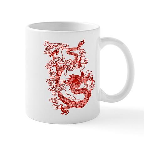 Red Chinese Dragon Mug