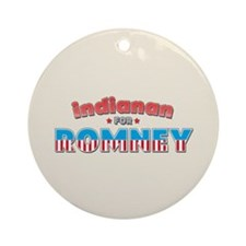 Indianan For Romney Ornament (Round)