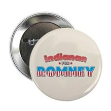 """Indianan For Romney 2.25"""" Button (10 pack)"""