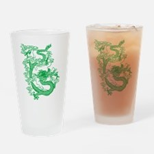 Green Chinese Dragon Drinking Glass