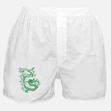 Green Chinese Dragon Boxer Shorts
