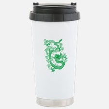 Green Chinese Dragon Stainless Steel Travel Mug
