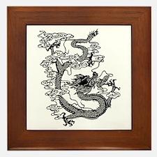 Chinese Dragon Framed Tile