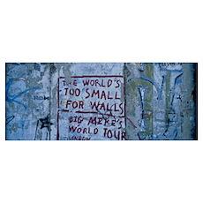 Graffiti on a wall, Berlin Wall, Berlin, Germany Poster