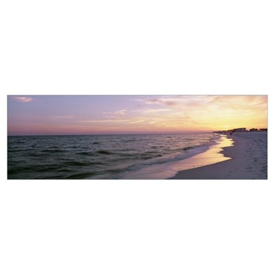 Sunset over the ocean, Gulf Of Mexico, Pensacola, Poster