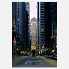 Buildings in a city, LaSalle Street, Chicago Board