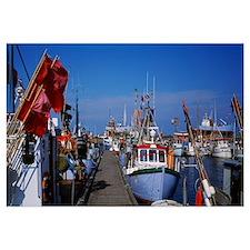 Boats docked at the harbor, Sjaelland, Denmark