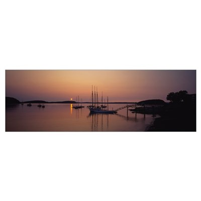 Sailboat in the sea, Bar Harbor, Mt. Desert Island Canvas Art