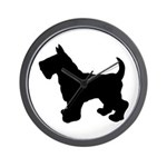 Scottish Terrier Silhouette Wall Clock
