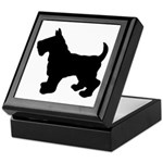 Scottish Terrier Silhouette Keepsake Box