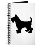 Scottish Terrier Silhouette Journal