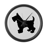 Scottish Terrier Silhouette Large Wall Clock