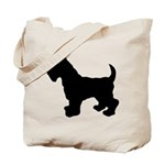 Scottish Terrier Silhouette Tote Bag