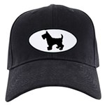 Scottish Terrier Silhouette Black Cap