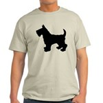 Scottish Terrier Silhouette Light T-Shirt