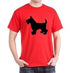 Scottish Terrier Silhouette Dark T-Shirt