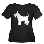 Scottish Terrier Silhouette Women's Plus Size Scoo